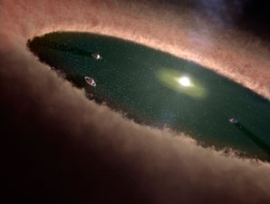 Ingredient for life orbits a young star